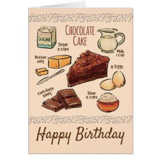 Chocolate Cake Recipe Birthday カード