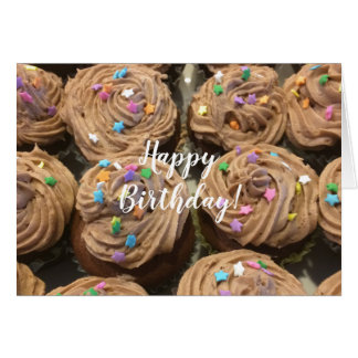 Chocolate Cupcakes For Your Birthday カード