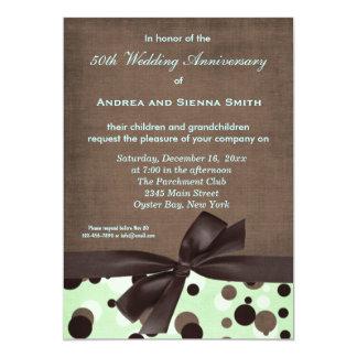 ChocoMintの結婚記念日 12.7 X 17.8 インビテーションカード