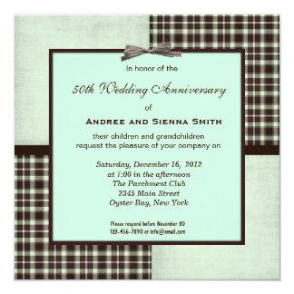 ChocoMint第50の結婚記念日 13.3 スクエアインビテーションカード