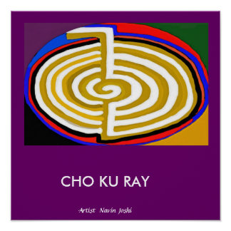 CHOKURAY Gold  - basic Reiki Symbol ポスター