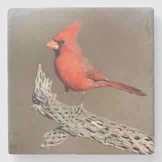chollaの肋骨の(鳥)ショウジョウコウカンチョウ ストーンコースター