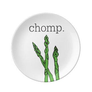 chomp。 (アスパラガス) 磁器プレート