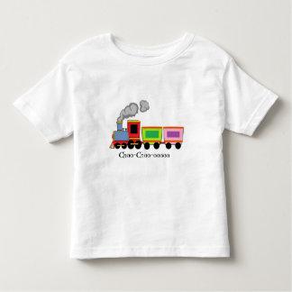 Choo-Chooのカラフルな列車 トドラーTシャツ