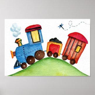 Choo-chooの列車のプリント ポスター