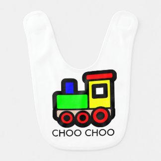 Choo Chooの列車のベビー用ビブ ベビービブ