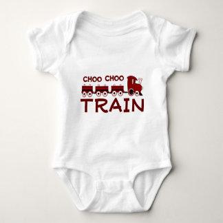 Choo Chooの列車の乳児のクリーパー ベビーボディスーツ