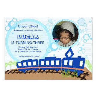 Choo Chooの列車の招待状カード 12.7 X 17.8 インビテーションカード