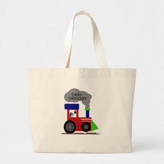 Choo Chooの列車 ラージトートバッグ