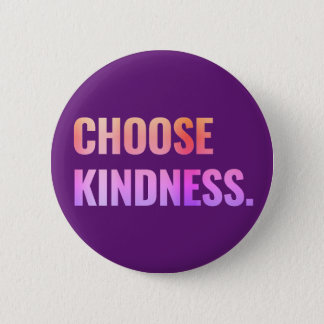 Choose Kindness Purple Pin-Back Button 5.7cm 丸型バッジ