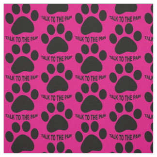 Choose your background color Paw print fabric ファブリック
