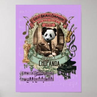Chopin Parody Chopanda Funny Panda Animal Composer ポスター