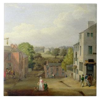 Chorley、眺めoのLancashireの通り場面、 タイル