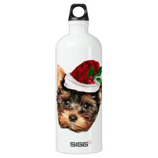 Chrismtasヨークシャテリアの小犬 ウォーターボトル