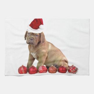 Christas Dogue de Bordeauxの子犬 キッチンタオル