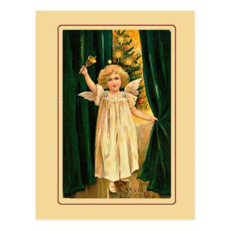 Christmaのヴィンテージを発表します少し天使 ポストカード