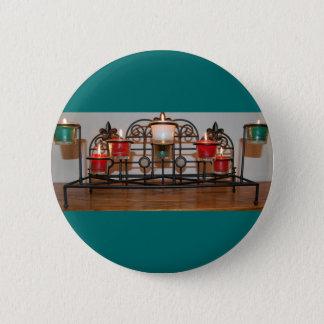 Christmansの蝋燭 5.7cm 丸型バッジ