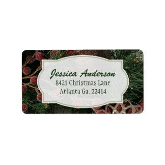 Christmas Address Stickers ラベル