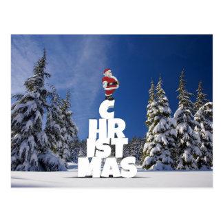 Christmas and Santa Claus postcard ポストカード