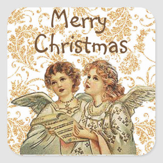 Christmas Angel Stickers to Seal your Envelopes スクエアシール