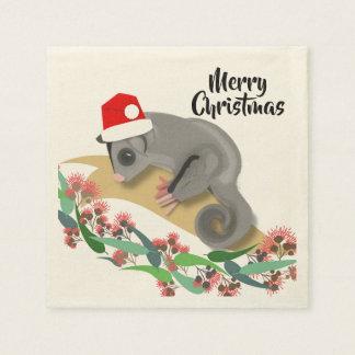 Christmas Baby Sugar Glider スタンダードカクテルナプキン