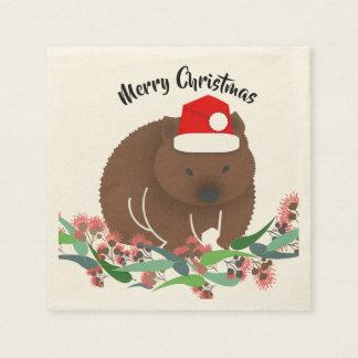 Christmas Baby Wombat スタンダードカクテルナプキン