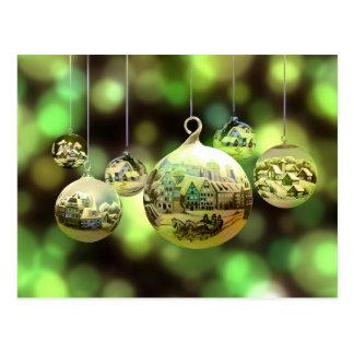 Christmas balls postcard ポストカード