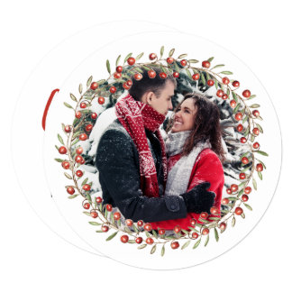 Christmas Berry Wreath | Round Card カード