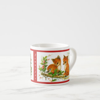 Christmas Bunnies Fox Child's Cup Personalize NAME エスプレッソカップ