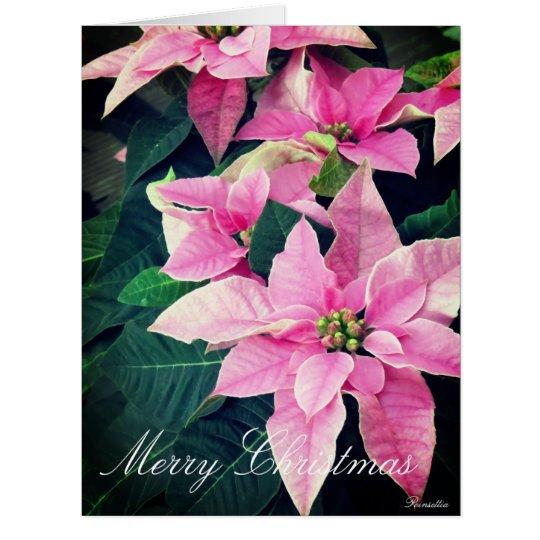 Christmas card:Poinsettia カード