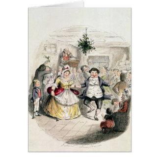 「Christmas CarolからのFezziwig's Ball氏の、 グリーティングカード