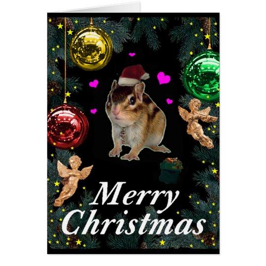 Christmas , Chipmunk (photo) カード