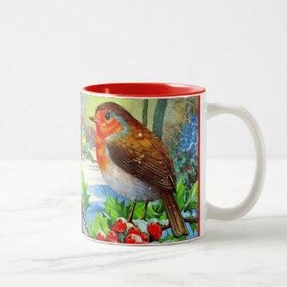 Christmas Cup Bird Watcher Gift Personalize Mug ツートーンマグカップ