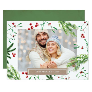 Christmas Family Photo Greeting Card カード