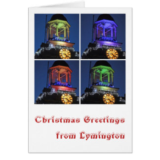 Christmas greetings from Lymington カード