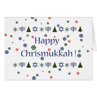 Christmas Hanukkah Combo Greeting Card カード