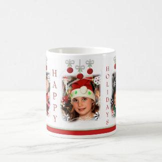 Christmas Holiday Custom Photo Coffee Mug コーヒーマグカップ
