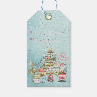 Christmas Holiday - Here Comes Santa ギフトタグ