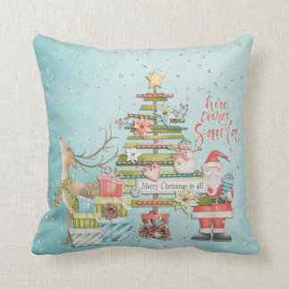 Christmas Holiday - Here Comes Santa クッション