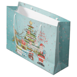 Christmas Holiday - Here Comes Santa ラージペーパーバッグ