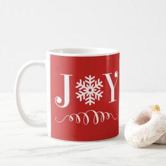 Christmas Holiday Joy Snowflake Mug Gift コーヒーマグカップ