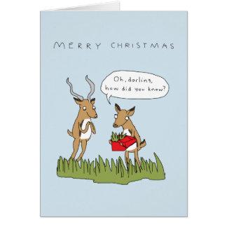 Christmas in the Bush | Funny Safari Card カード