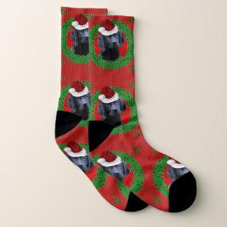 Christmas Labrador Retriever  dog socks ソックス