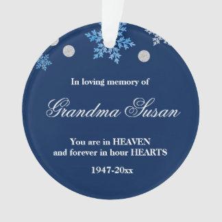 Christmas Ornament Memorial Grandma Snowflakes オーナメント