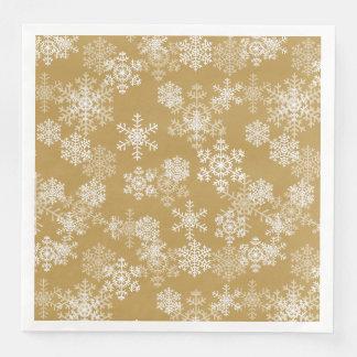 Christmas Paper Napkins-Snowflakes