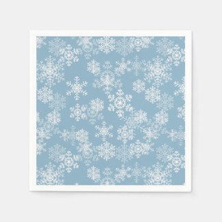 Christmas Paper Napkins-Snowflakes スタンダードカクテルナプキン