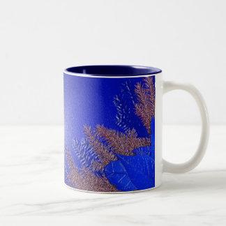 Christmas Poinsettia Blue II Coffee Mug