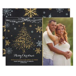 Christmas Pregnancy Announcement Christmas Photo カード