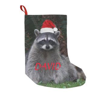 Christmas Raccoon Personalized スモールクリスマスストッキング
