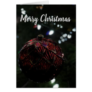Christmas Red Ornament カード